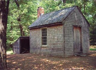 Walden Thoreau cabin